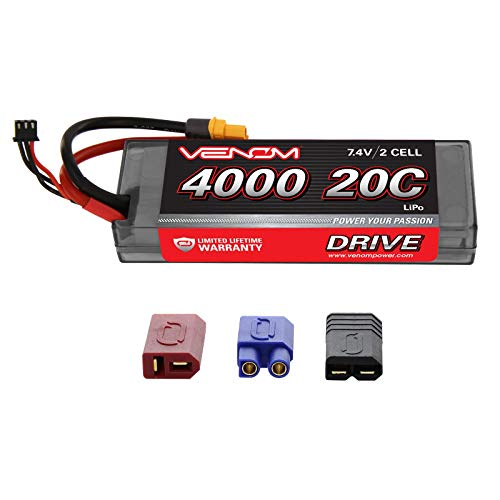 Venom 20C 2S 4000mAh 7.4V Hard Case LiPo Battery with Universal Plug (EC3/Deans//Tamiya)