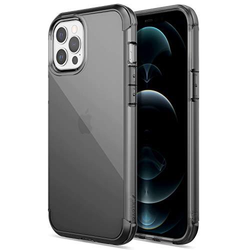 X-Doria Raptic Air Fall kompatibel mit iPhone 12 Pro Max Fall, Kratzfest, Aluminium Metall Stoßstange, drahtlose Aufladung, 13ft Drop-Schutz, passt iPhone 12 Pro Max, Rauch