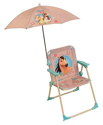 FUN HOUSE Spirit 713217 Chaise avec Parasol Fille, Beige, pour Enfant