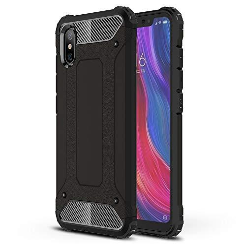 FLHTZS Cover Xiaomi Mi 8 Pro, Combinazione TPU + PC,Protezione perfetta del tuo telefono,Esecuzione squisita,Cassa del telefono molto utile(nero)