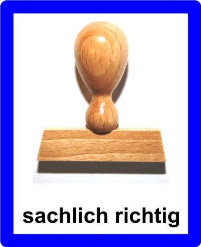 LE-ONs® Holzstempel Professional-Serie L20: sachlich richtig