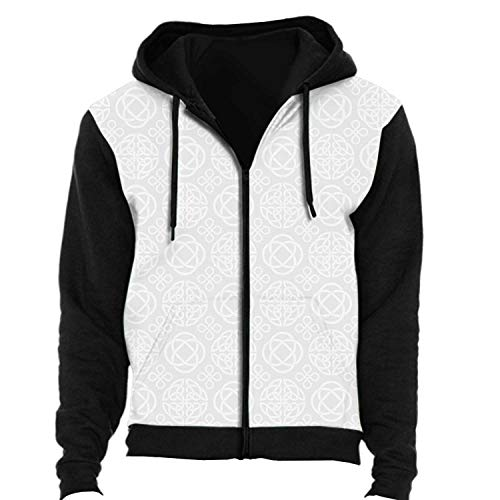 C COABALLA Celtic Knots Seamless Wallpaper.Pattern with Knot s,Mens Womens Hoodies Athletic Zip up SWEA