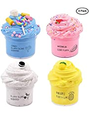 zkm 4Pieces Butter Slime with Candy Slime Watermelon Slime and Pineapple Slime Super Soft Birthday Gifts