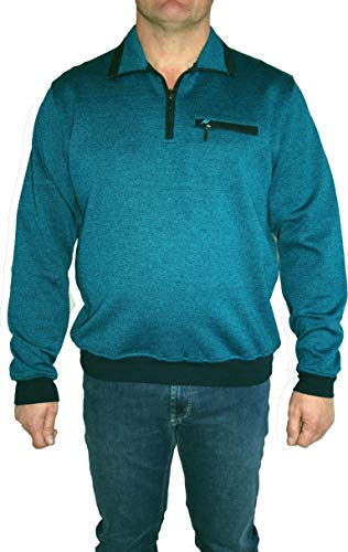 HS Navigazione Sweatshirt Langarm 13532 0805 Petrol meliert, Größe:52 / L