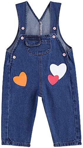 Baby Mädchen Casual Soft Denim Latzhose Overall Latzhose Latzhose Overall Denim Jeans Kleidung Gr. 0-3 Monate, dunkelblau