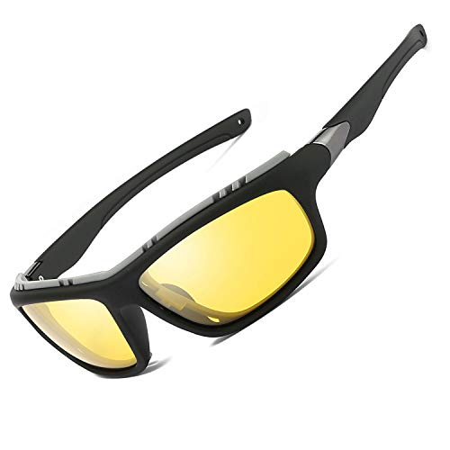 Sunglasses Polarised for Men Women/Cool Fishing Golf sun glasses/Eyewear Outdoor sports sunglasses (Night Vision Driving Glasses)