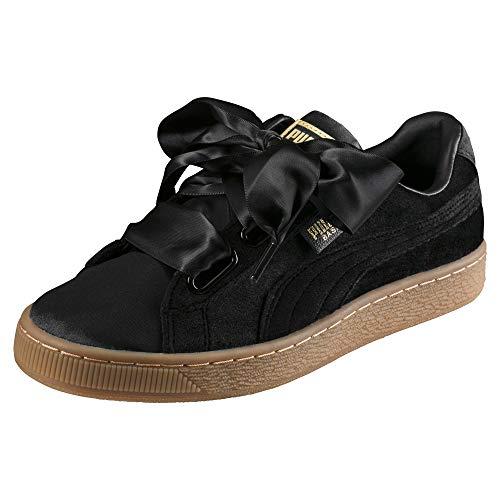 Puma Damen Sneakers Basket Heart VS schwarz 37.5 EU (4.5 UK)