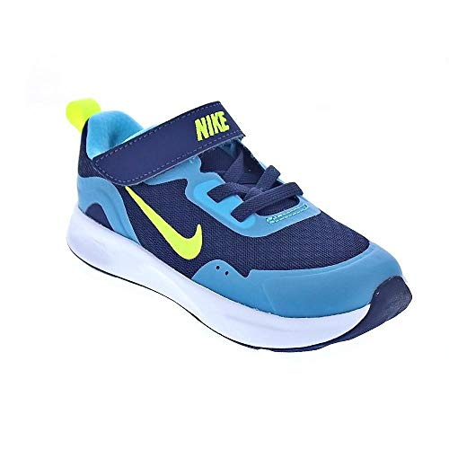 Nike Wearallday (TD), Zapatillas Unisex niños, Midnight Navy Volt Baltic Blue White, 23.5 EU