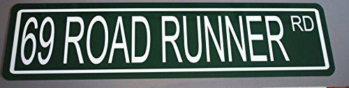Motown Automotive Design Metal Street Sign 1969 69 Road Runner RD 6 x 24 HOT Rod Muscle CAR Wall Art Gift BAR Man CAVE Restaurant Shop Garage FITS Plymouth SUPERBIRD 383 440 426 HEMI SIX Pack