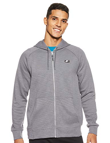 NIKE M NSW Optic Hoodie FZ Sweatshirt, Hombre, Dark Grey, M
