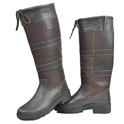 HKM Belmond Winter Membran Fashion Stiefel, Dunkelbraun, 41 Größe