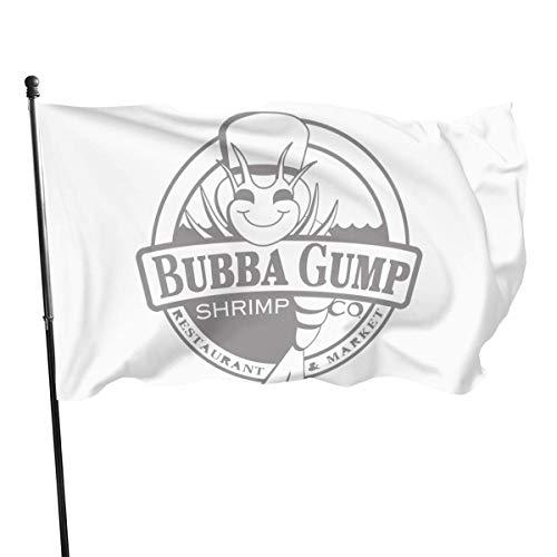 Yaxinduobao Indoor-Feier-Flagge im Freien Bubba Gump Logo 3x5 Flag