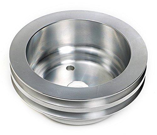 Trans-Dapt 9485 Aluminum 2-Groove Crankshaft Pulley