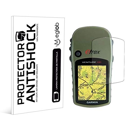 Protector de Pantalla Anti-Shock Anti-Golpe Anti-arañazos Compatible con GPS Garmin eTrex Venture HC