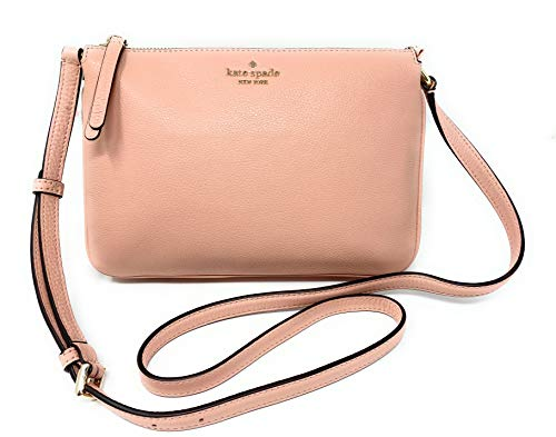 """Kate Spade New York pebble leather with gold tone hardware Raised Kate Spade New York name and logo on front Crossbody, shoulder strap with adjustable drop of 19-23"""" Interior features Spade logo fabric lining; three interior compartments Approximate ..."""