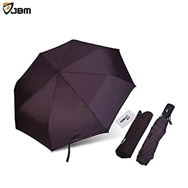 JBM Travel Umbrella Sun Rain Umbrella Sun Protection Automatic Open/Close Strong Durable Lightweight Windproof Portable for Golf Outdoor Camping Hiking Backpacking Fishing - Multi Colors (Pink)
