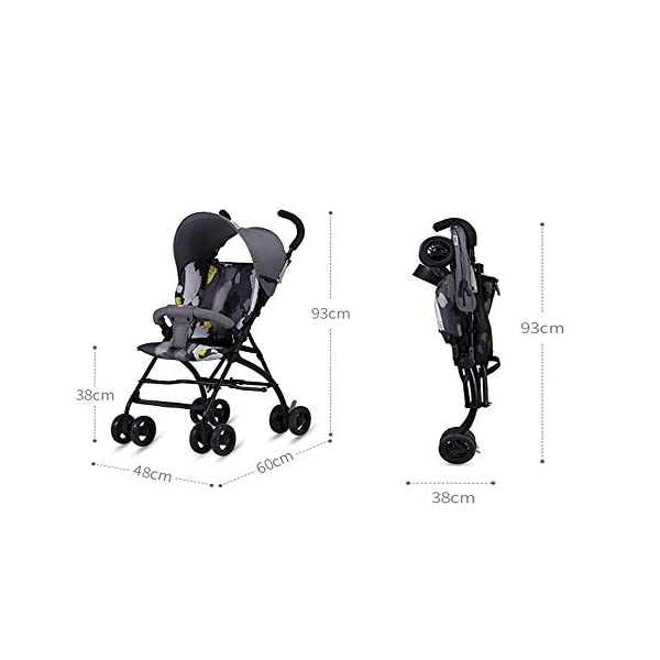 Makeups One-Handed Folding Stroller Height-Adjustable Stroller 0+ Group Is Suitable for Crib Up To 15 Kg with Umbrella Colour: Black Makeups The 3-in-1 car is suitable for the birth of a baby. 3-piece car-a car seat from a month to 15 kg, a large crib and a stroller that can be used for a long time. Easy to fold: A case that can be easily and quickly folded with only one hand. The size is reduced, which is ideal for travel and trunk space. With a compact chassis, easy to fold, can carry a crib, can be used from birth, and includes group 0. This is the ideal stroller for your baby. 5