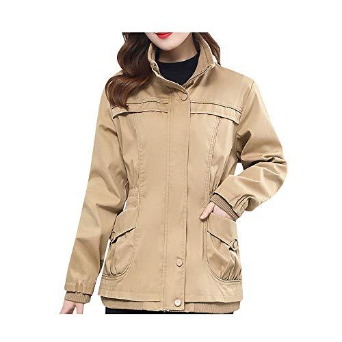 Dames Solid mantel warm herfst en winter outwear jas parka mode cargo mantel grote maat winterjas trenchcoat