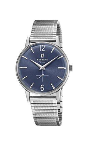 Festina Herren Analog Quarz Uhr mit Edelstahl Armband F20250/3