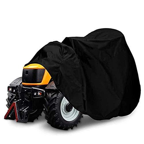 CRMY Cubierta para cortacésped, poliéster 210D de Alta Resistencia Cubierta para Tractor de césped Durable Impermeable, Resistente a la Intemperie con cordón y Bolsa de Almacenamiento