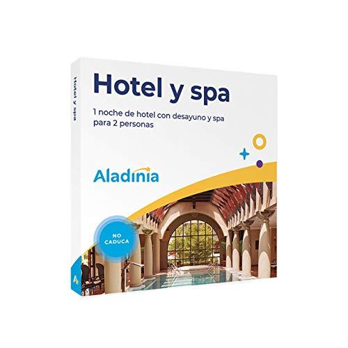 ALADINIA Hotel y SPA. Pack de escapadas Originales para Regalar. Cofre Regalo de Estancia Fin de Semana Relax con Circuito SPA. No caduca, Cambios de Experiencia Gratis ilimitados