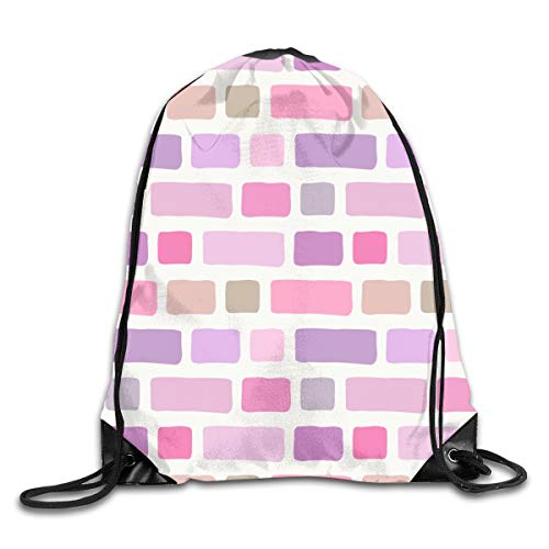 show best Brick Wall Drawstring Gym Bag for Women and Men Polyester Gym Sack String Backpack for Sport Workout, School, Travel, Books 14.17 X 16.9 inch