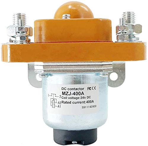 ECUTEE Universal New Contactor Solenoid MZJ-400A for Heavy Duty Golf Cart, 24 Volt 400 Amp Upgrade