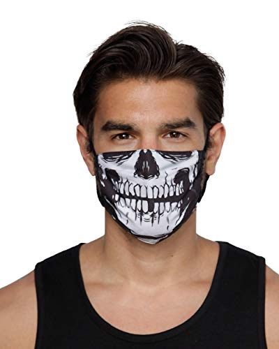 INTO THE AM Skeleton Cloth Face Mask V2 - Reusable & Breathable