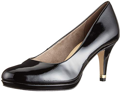 Tamaris Damen 1-1-22444-22 Pumps, Schwarz (Black PATENT 18), 36 EU