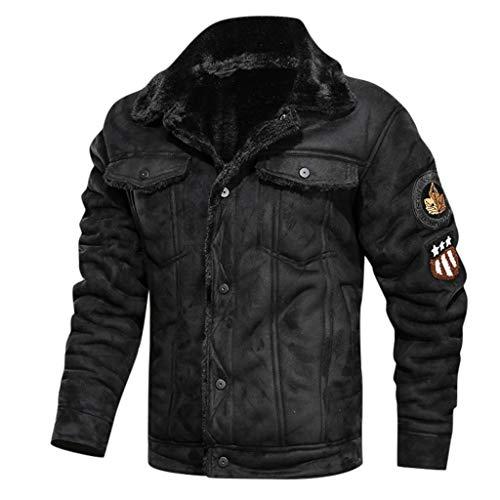 SPE969 Men's Zipper Removable Fur Collar Jacket,Leather...
