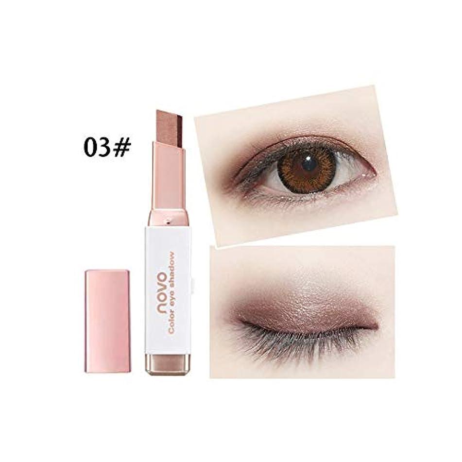 Double Colors Stereo Gradient Velvet Eyeshadow Stick Shimmer Earth Color Eye Shadow Cream Pen Eye Makeup Cosmetic Set