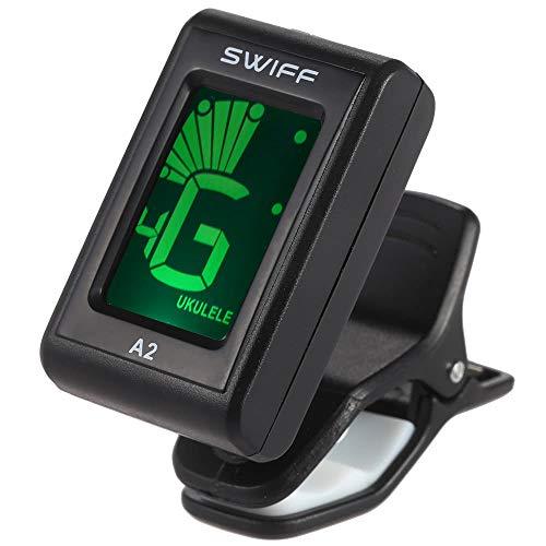 Tuner Swiff A2 Mini Clip-On LCD automatische Digital-Ton-Tuner Musikinstrumente & DJ-Equipment ( Color : Schwarz )