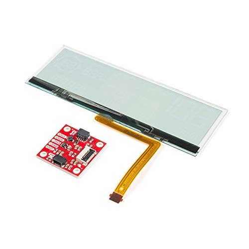 SparkFun Transparent OLED HUD Breakout Brilliant LCD Visible in Daylight Qwiic I2C Protocol No Soldering Required or Breadboard-able Area-Colored Segmented Display 3.3 Volt at 500mA Animate Icons