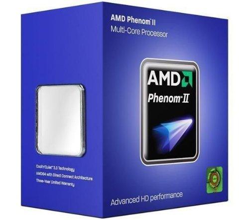AMD Phenom II X6 1075T - Quad Core (3200 MHz, AM3, 9 MB de caché, 125 W), Color Negro
