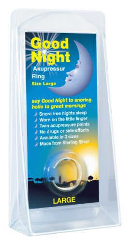 Good Night Akupressur-Ring Large (GROß) Schnarchring - Das Original mit Geld-Zurück-Garantie