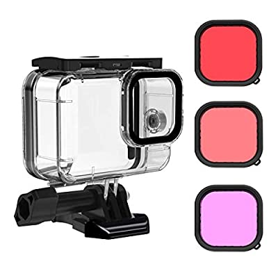 Waterproof Case for GoPro Hero 9 Black with 3-Pack Dive Filter, MOUNTDOG GoPro 9 Underwater Waterproof Housing Case Supports 45M/148FT Deep Diving Scuba Snorkeling with Quick Release Mount Accessories from MOUNTDOG