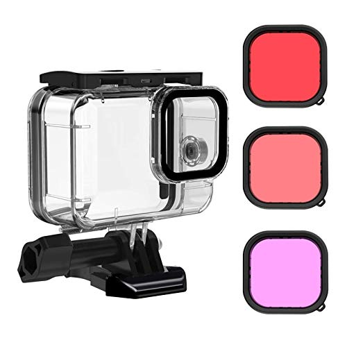 Waterproof Case for GoPro Hero 9 Black with 3-Pack Dive Filter, MOUNTDOG GoPro 9 Underwater Waterproof Housing Case Supports 45M/148FT Deep Diving Scuba Snorkeling with Quick Release Mount Accessories