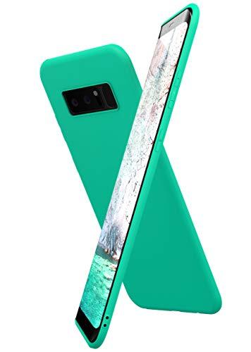 ONEFLOW Slim Hülle Kompatibel mit Samsung Galaxy Note8 Handyhülle Stoßfest und Minimalistisch, Ultra Dünne Bumper Design Handy Schutzhülle Matt, Leichte Hülle aus Silikon - Mint