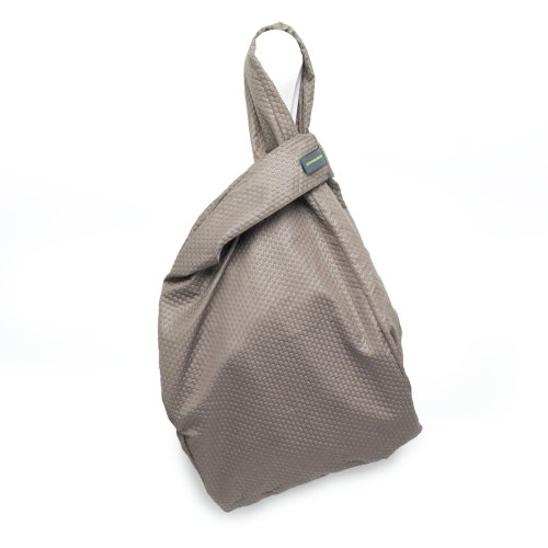 Mandarina Duck Revival Damen Mittelgroße umweltfreundliche Faltbare Tasche aus Recycling-Kunststoff Eco Shopper (grau)