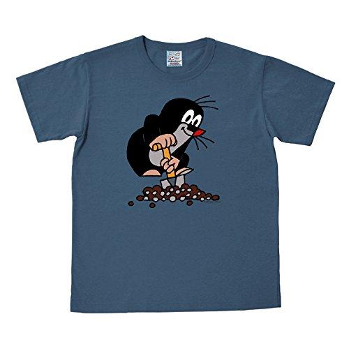 Der Kleine Maulwurf T-Shirt zur TV-Serie, blau, sehr hochwertig - M