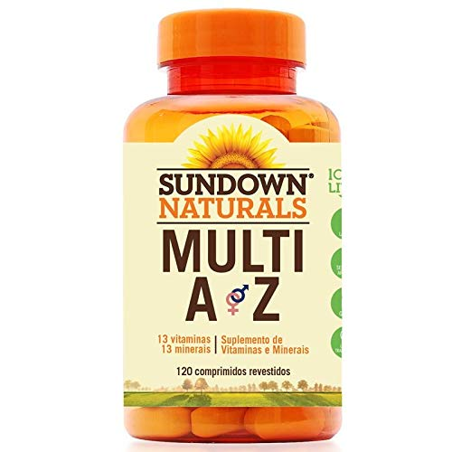 Multi A-Z Mix de Vitaminas e Minerais Sundown 120 cápsulas