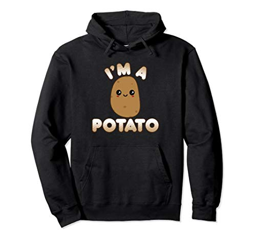 Funny Potato Costume Cute Kawaii Style Smiling I'm A Potato Pullover Hoodie