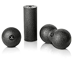 BODYMATE Fascia MINI-SET Black - Mini Fascia Roll L15xD6cm, Ball D8cm and Duo-Ball D8cm in a set
