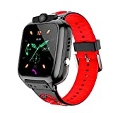 OVV Kids Smartwatch Phone with WiFi/LBS Tracker for Girls Boys with IP67 Waterproof SOS Call Camera Touch Screen Game Alarm Children Digital Wrist Watch Gift Electronic Watch Toys (Red)