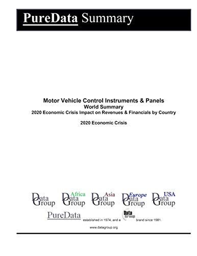 Motor Vehicle Control Instruments & Panels World Summary: 2020 Economic Crisis Impact on Revenues & Financials by Country (PureData World Summary, Band 9533)