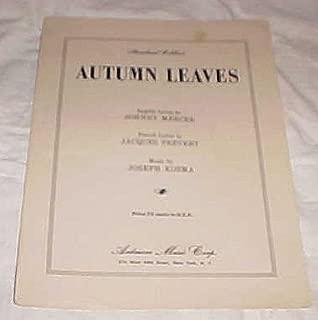 autumn leaves joseph kosma sheet music