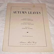 Autumn Leaves [Sheet Music]