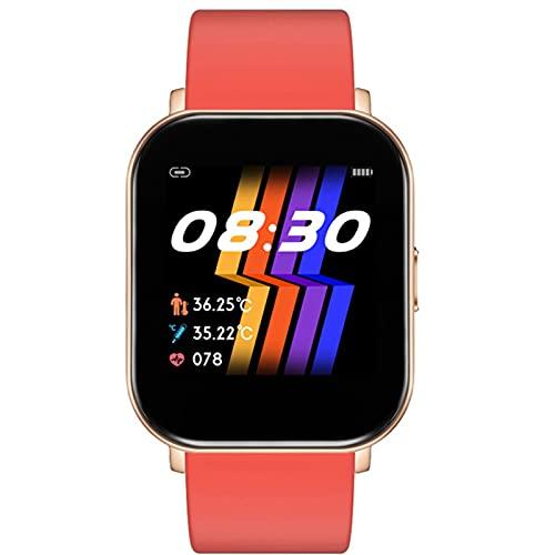 APCHY Reloj Inteligente Smart Watch,Rastreador De Fitness De 1.4Inch Pantalla Táctil Completa Bulit En La Temperatura Corporal De Distanciamiento Social Monitoreo del Sueño,A
