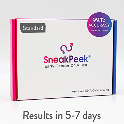 SneakPeek Early Gender DNA Test Kit – Predicts Baby Gender at 99.1% Accuracy¹ (Standard)