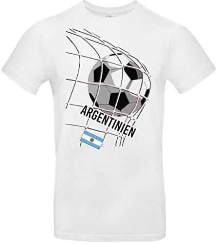 Shirtstown – Camiseta de fútbol de Argentina, país, país, país, país, país, país, fútbol, camiseta, camiseta de país, camiseta de deporte, club, fútbol Blanco 152 cm